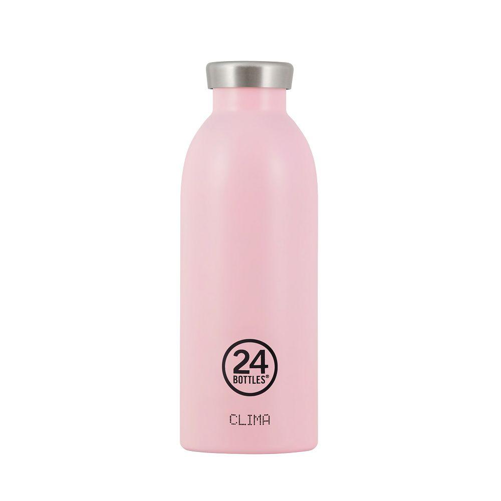 義大利 24Bottles | Clima不銹鋼雙層保溫瓶 500ml -  糖果粉