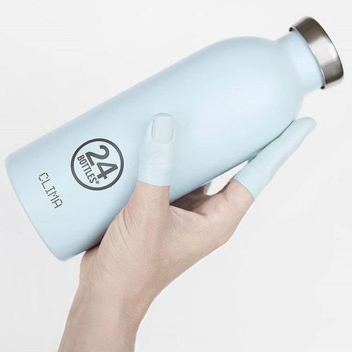 義大利 24Bottles|不鏽鋼雙層保溫瓶 500ml -  天空藍