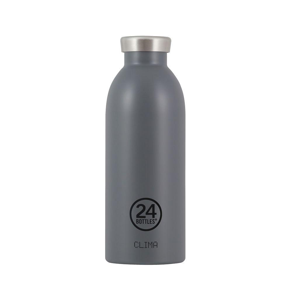 義大利 24Bottles|不銹鋼雙層保溫瓶 500ml - 典雅灰