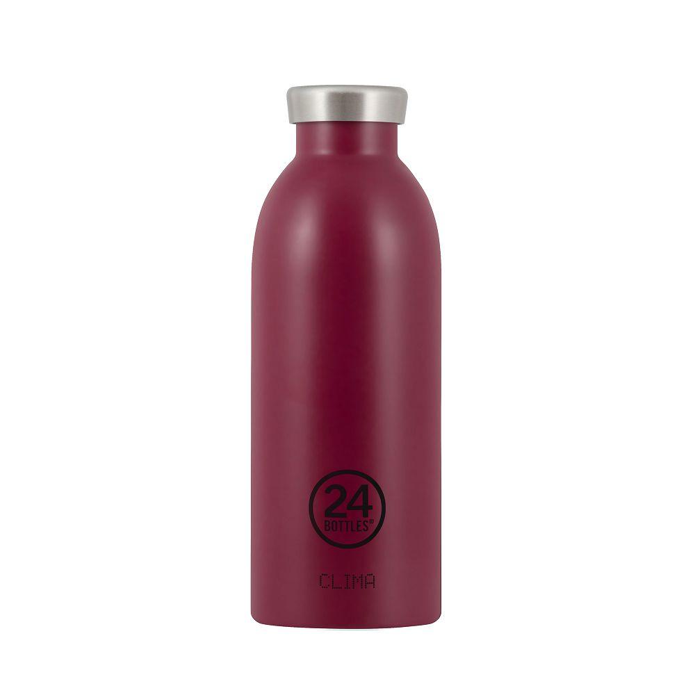 義大利 24Bottles | Clima不銹鋼雙層保溫瓶 500ml -  酒釀紅