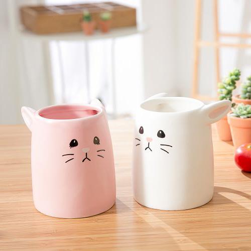 日本 sunart │ 對杯 - 粉白兔