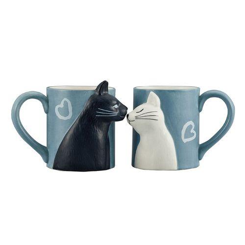 日本 sunart │ 對杯 - 貓貓親親