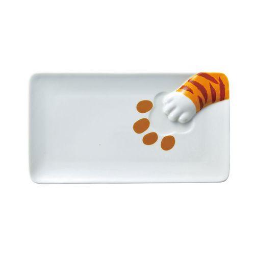 日本 sunart │長餐盤 - 虎斑貓偷食