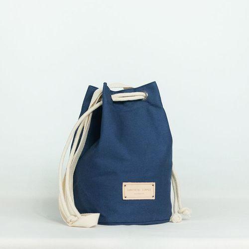 泰國 Something Simple|手作三用水桶包 - 深藍