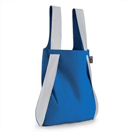 德國 Notabag│反光銀三用後背包/購物袋/手提袋/肩背袋 - 希臘藍