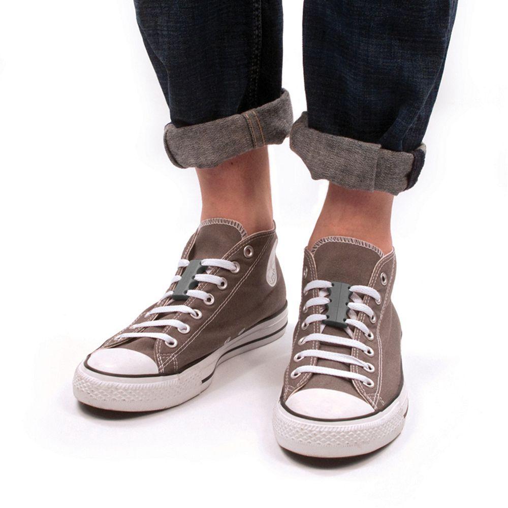美國 Zubits|強磁鞋帶扣 1 號 - 鉛灰