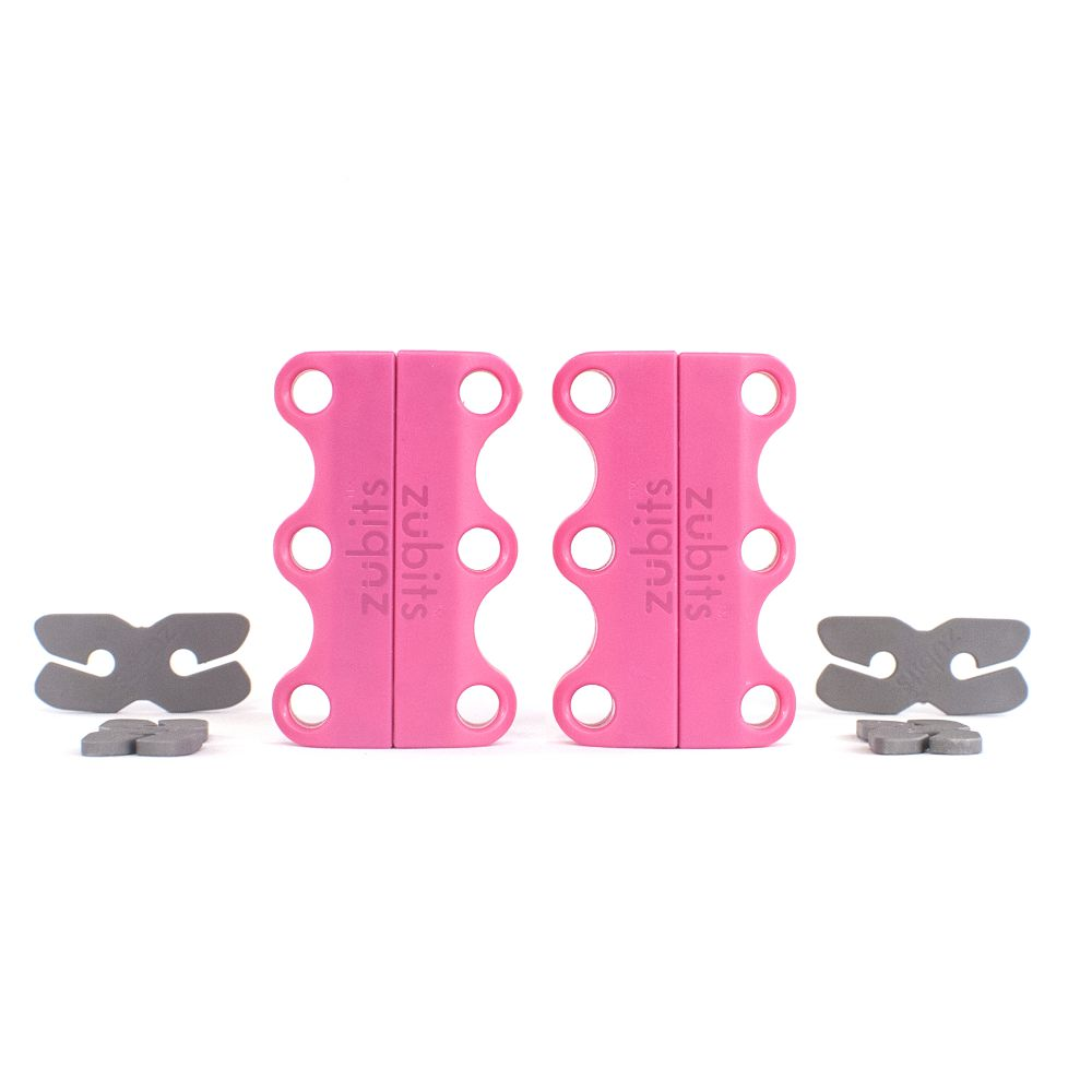美國 Zubits│強磁鞋帶扣 1 號 - 粉紅