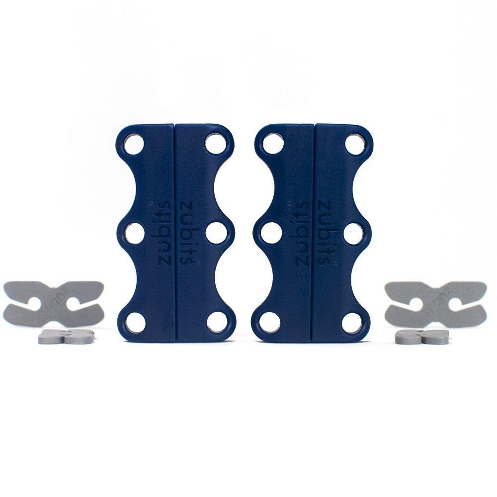 美國 Zubits|強磁鞋帶扣 3 號 - 軍藍