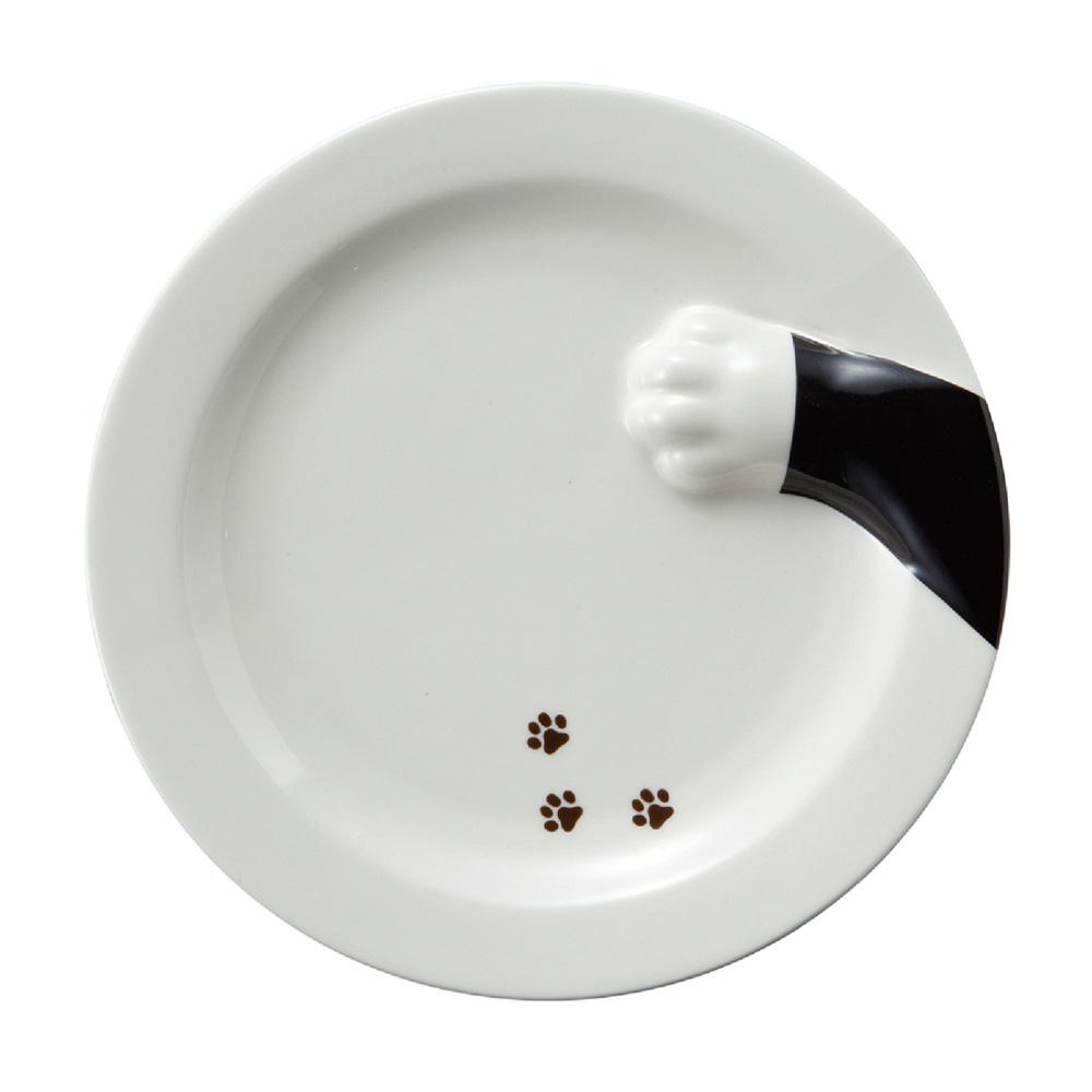 日本 sunart   餐盤 - 黑貓偷食