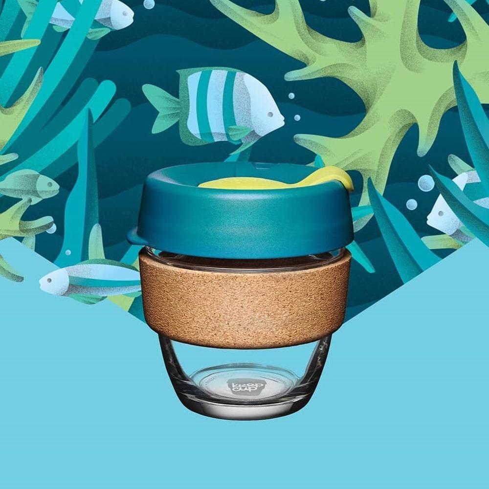 澳洲 KeepCup |  隨身咖啡杯 軟木系列 M - 沉靜