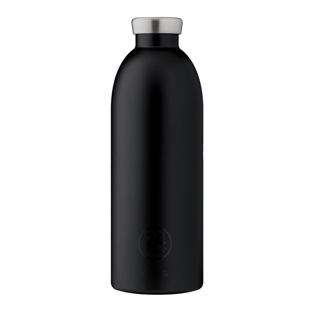 義大利 24Bottles | 不鏽鋼雙層保溫瓶 850ml - 紳士黑