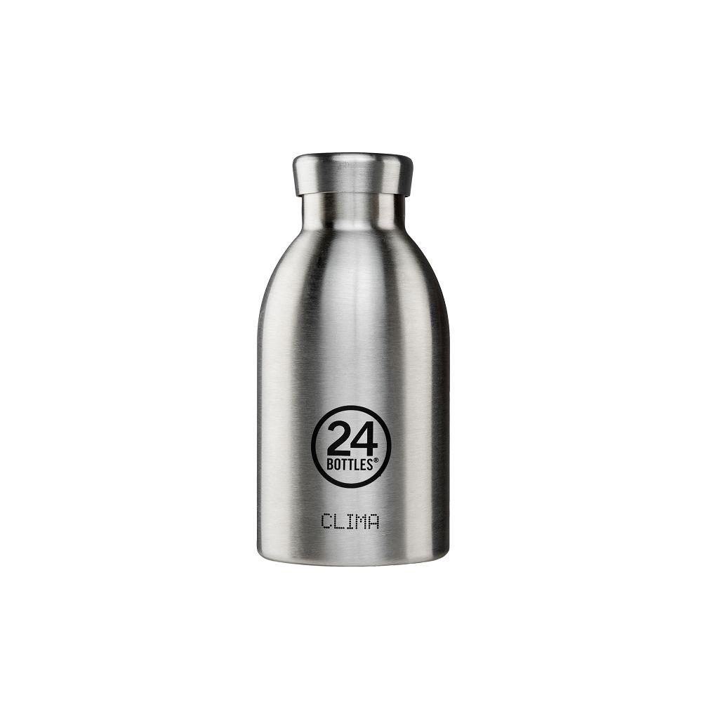 義大利 24Bottles | 不鏽鋼雙層保溫瓶 330ml - 不鏽鋼