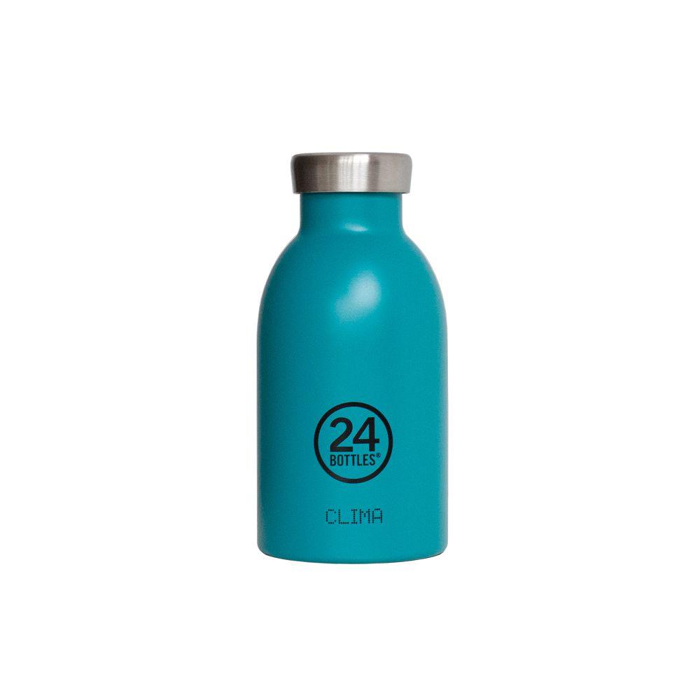 義大利 24Bottles | 不鏽鋼雙層保溫瓶 330ml - 海灣藍