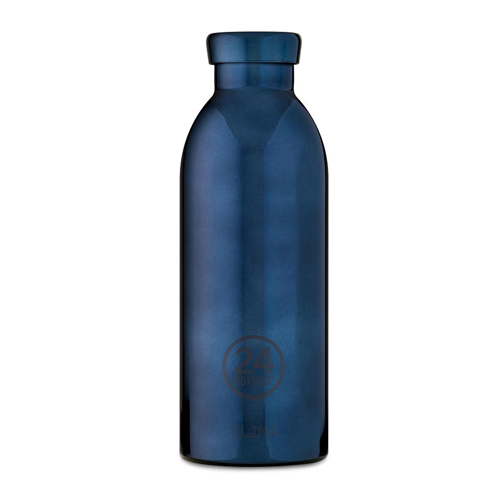 義大利 24Bottles|不鏽鋼雙層保溫瓶 500ml - 黑金