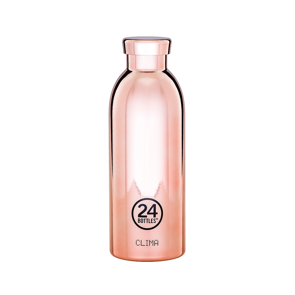 義大利 24Bottles 不鏽鋼雙層保溫瓶 500ml - 玫瑰金