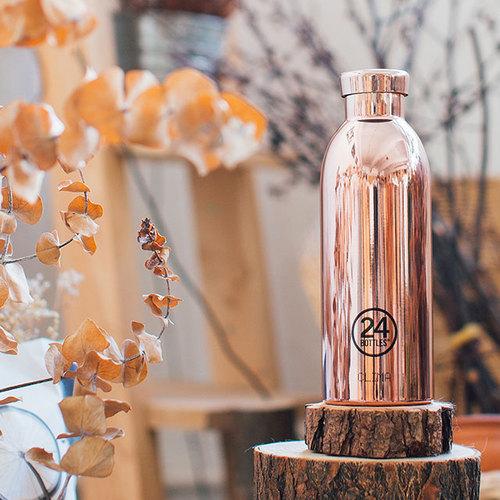 義大利 24Bottles|不鏽鋼雙層保溫瓶 500ml - 玫瑰金