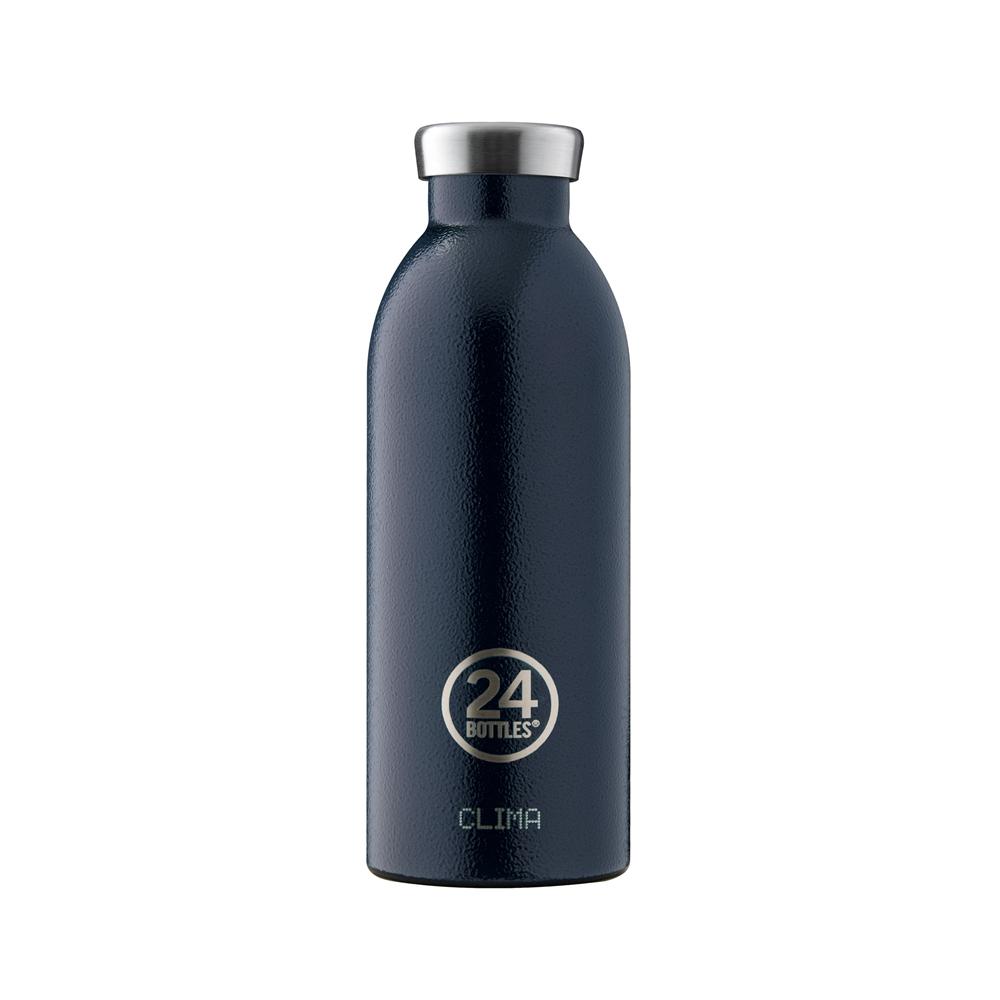 義大利 24Bottles 不鏽鋼雙層保溫瓶 500ml - 午夜藍