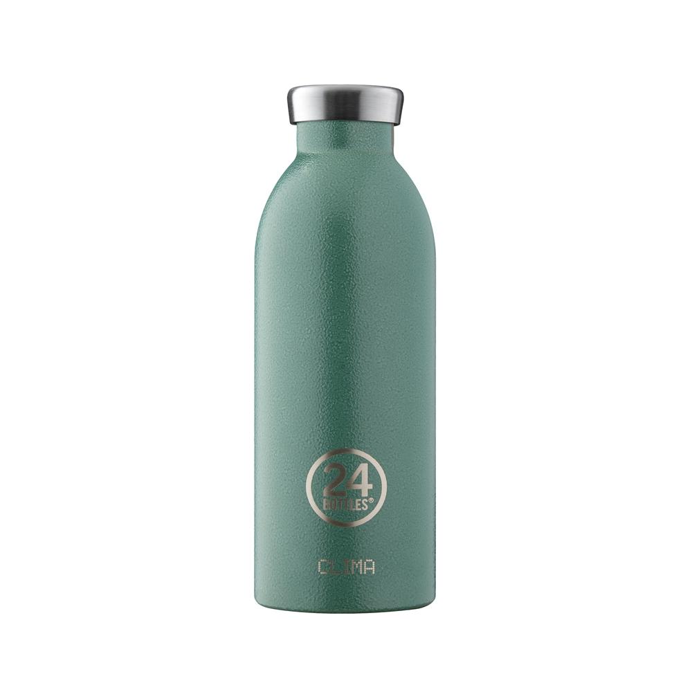 義大利 24Bottles | 不鏽鋼雙層保溫瓶 500ml - 祖母綠