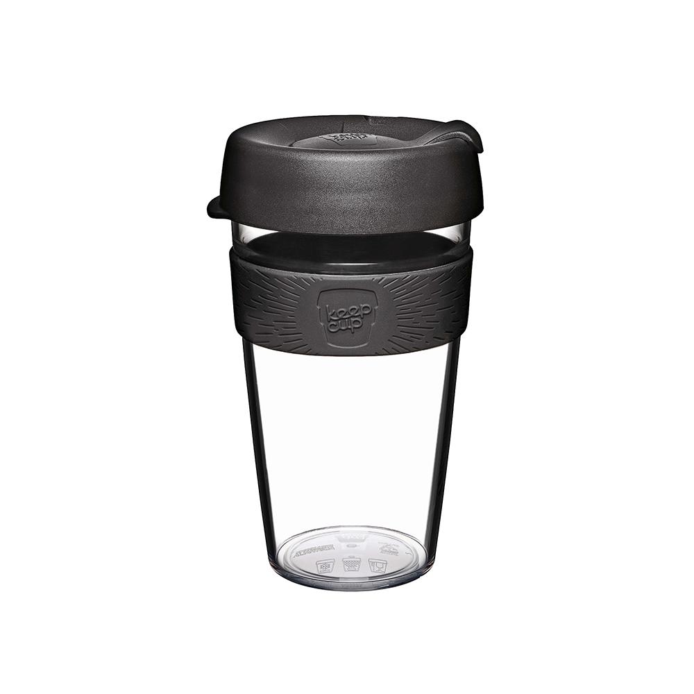 澳洲 KeepCup | 隨身咖啡杯 晶透系列 L - 黑色幽默