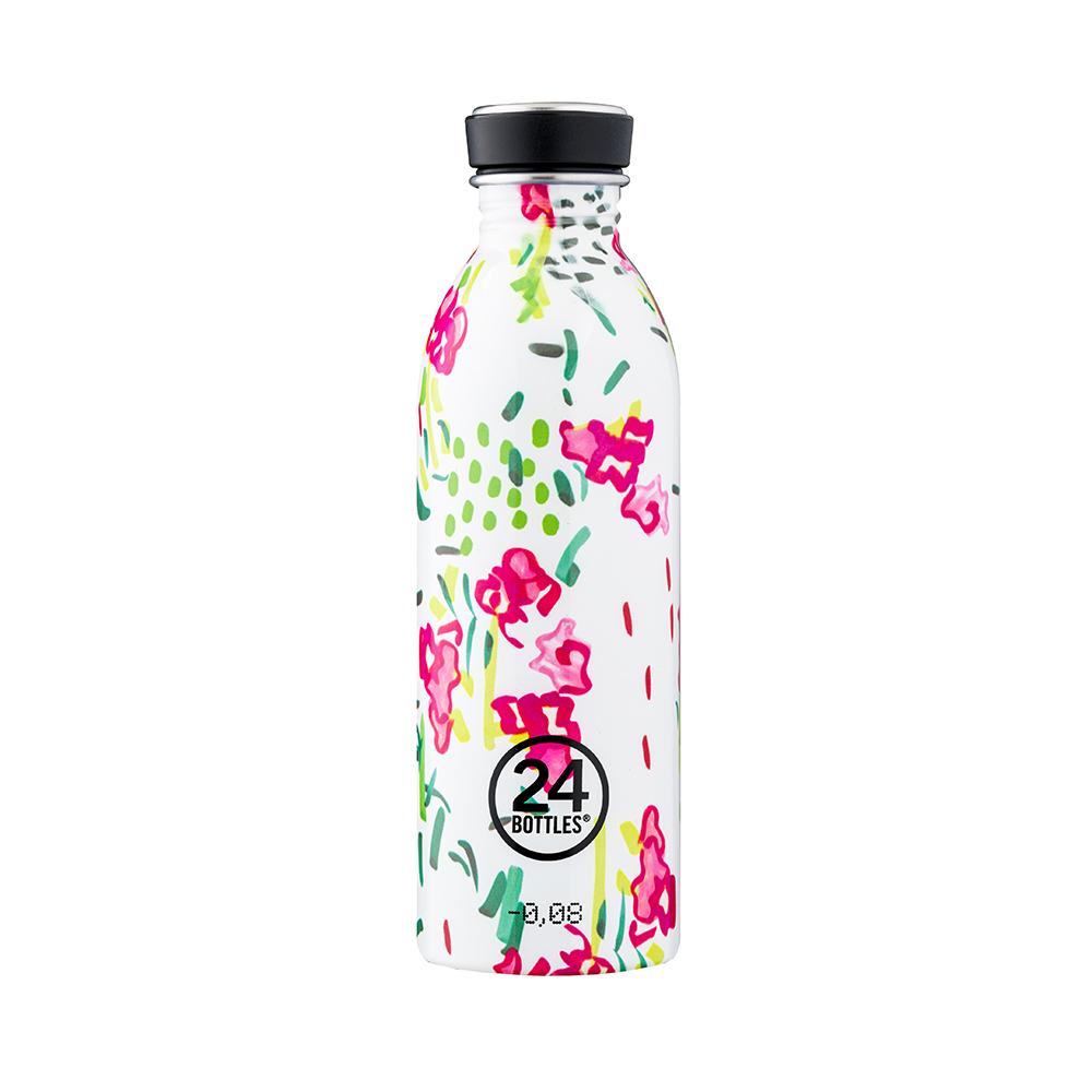 義大利 24Bottles|輕量冷水瓶 500ml - 花瓣雨