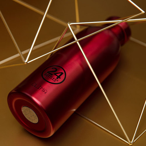 義大利 24Bottles 不鏽鋼雙層保溫瓶 500ml - 金紅