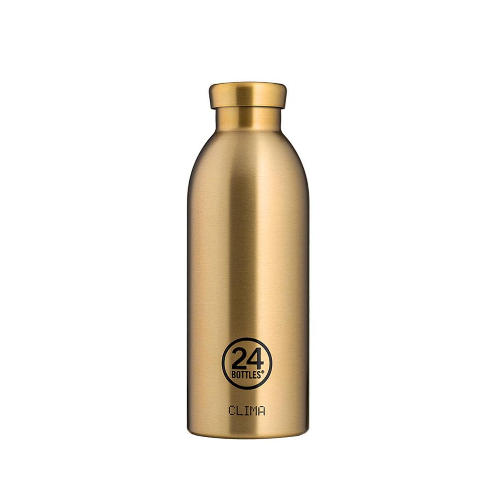 義大利 24Bottles 不鏽鋼雙層保溫瓶 500ml - 香檳金