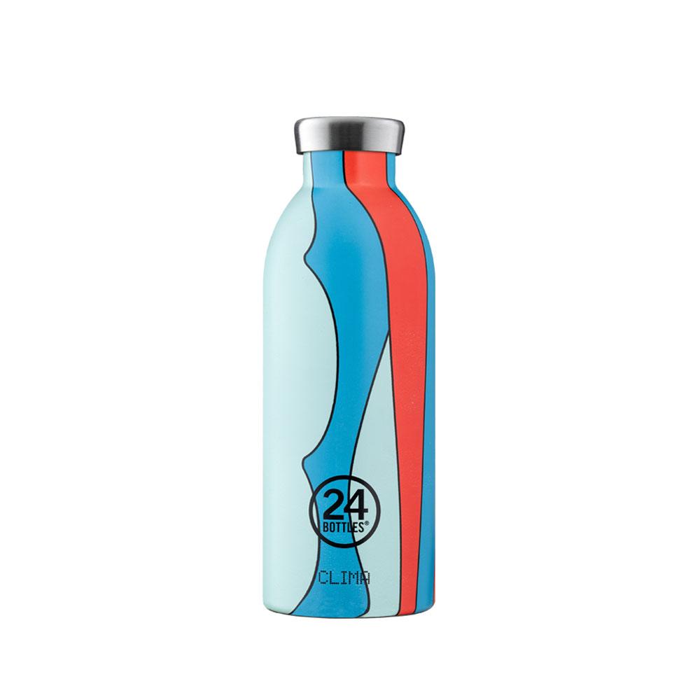 義大利 24Bottles 不鏽鋼雙層保溫瓶 500ml - 波普藍