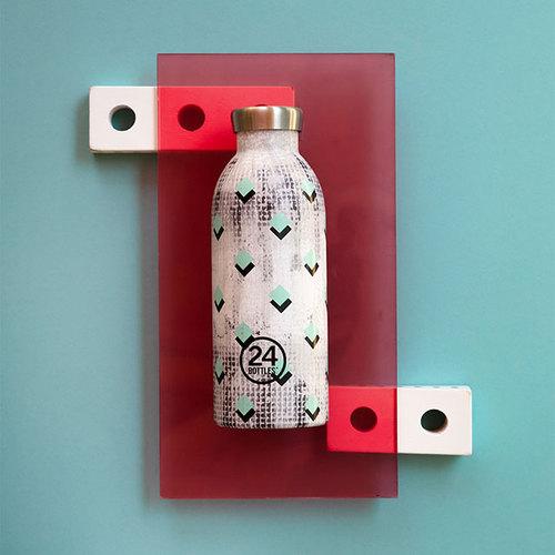 義大利 24Bottles|不鏽鋼雙層保溫瓶 500ml - 菱磚