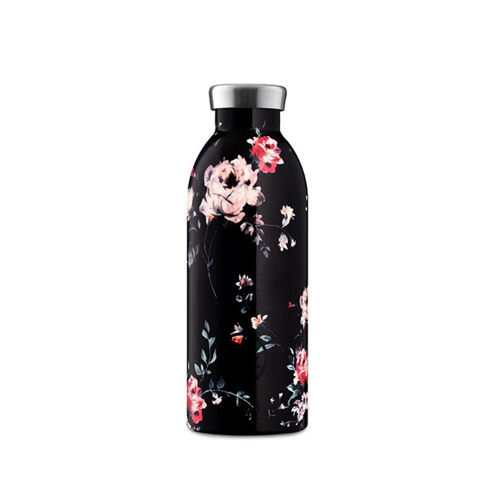 義大利 24Bottles|不鏽鋼雙層保溫瓶 500ml - 黑夜玫瑰