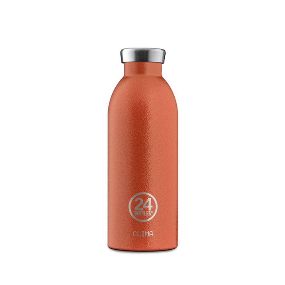 義大利 24Bottles 不鏽鋼雙層保溫瓶 500ml - 夕陽橘