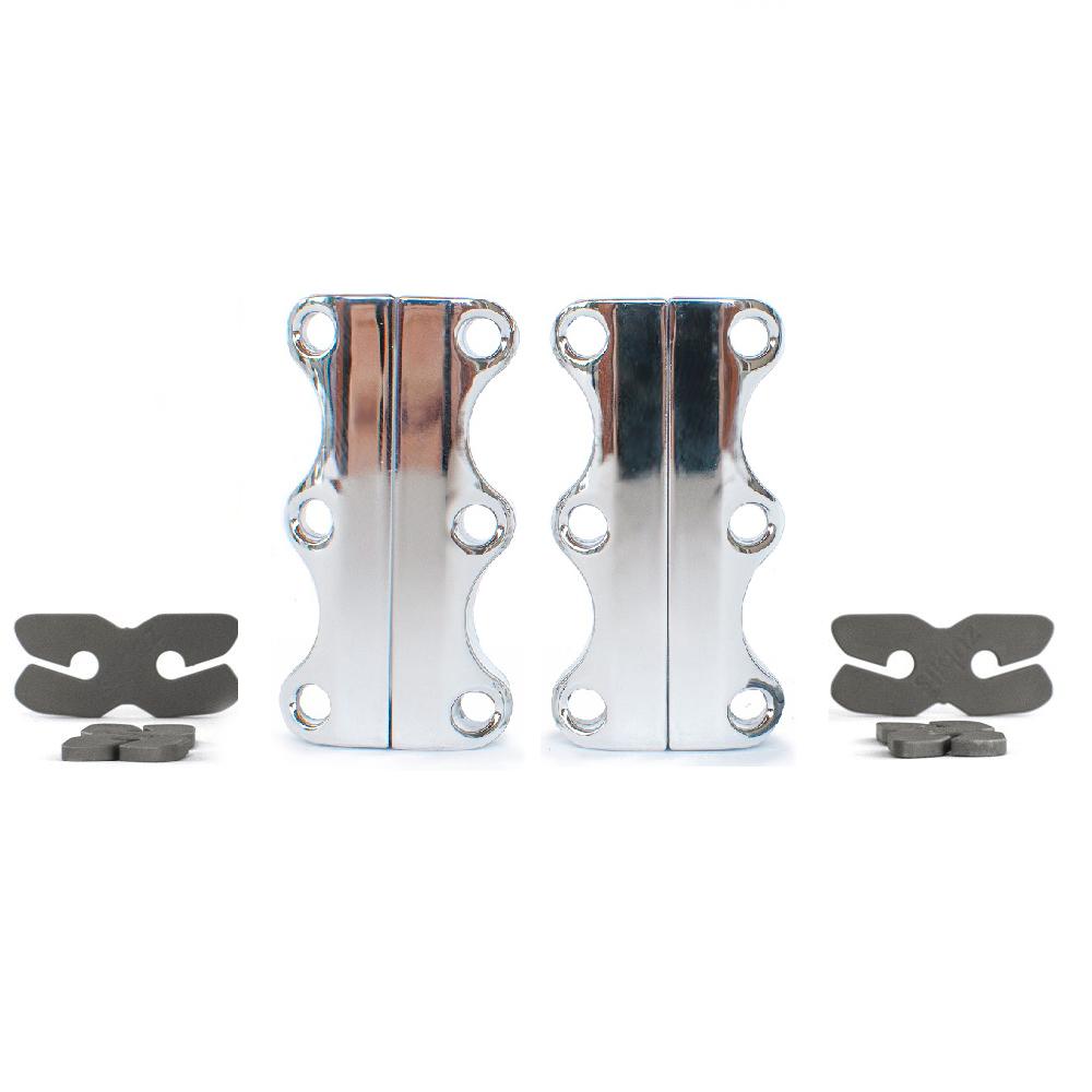 美國 Zubits│強磁鞋帶扣 3 號 - 鉻銀