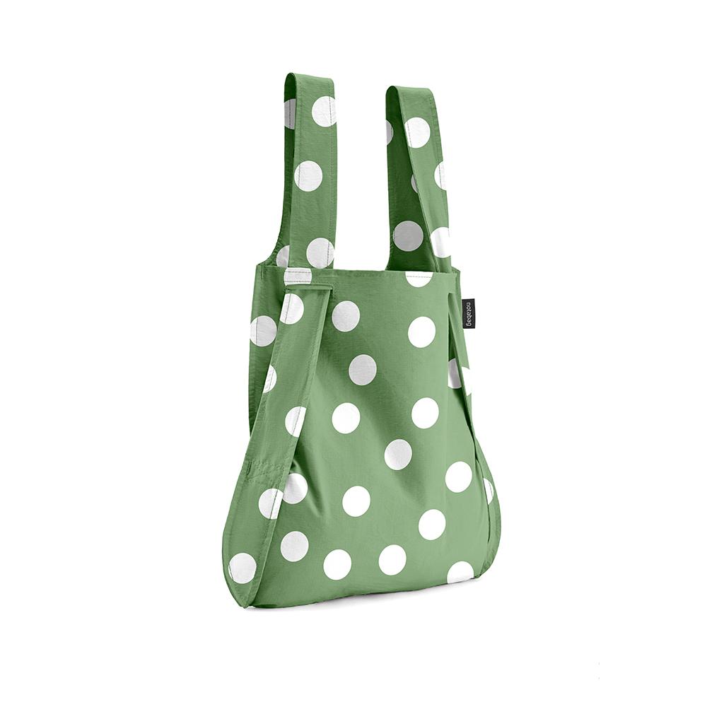 德國 Notabag | 三用後背包/購物袋/手提袋/肩背袋 - 抹茶氣泡