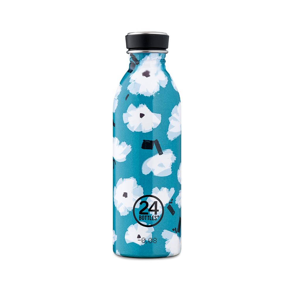 義大利 24Bottles|輕量冷水瓶 500ml - 花朵雲