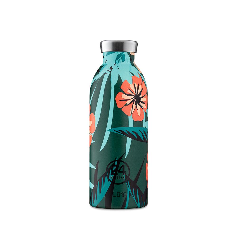 義大利 24Bottles|不鏽鋼雙層保溫瓶 500ml - 熱帶風情