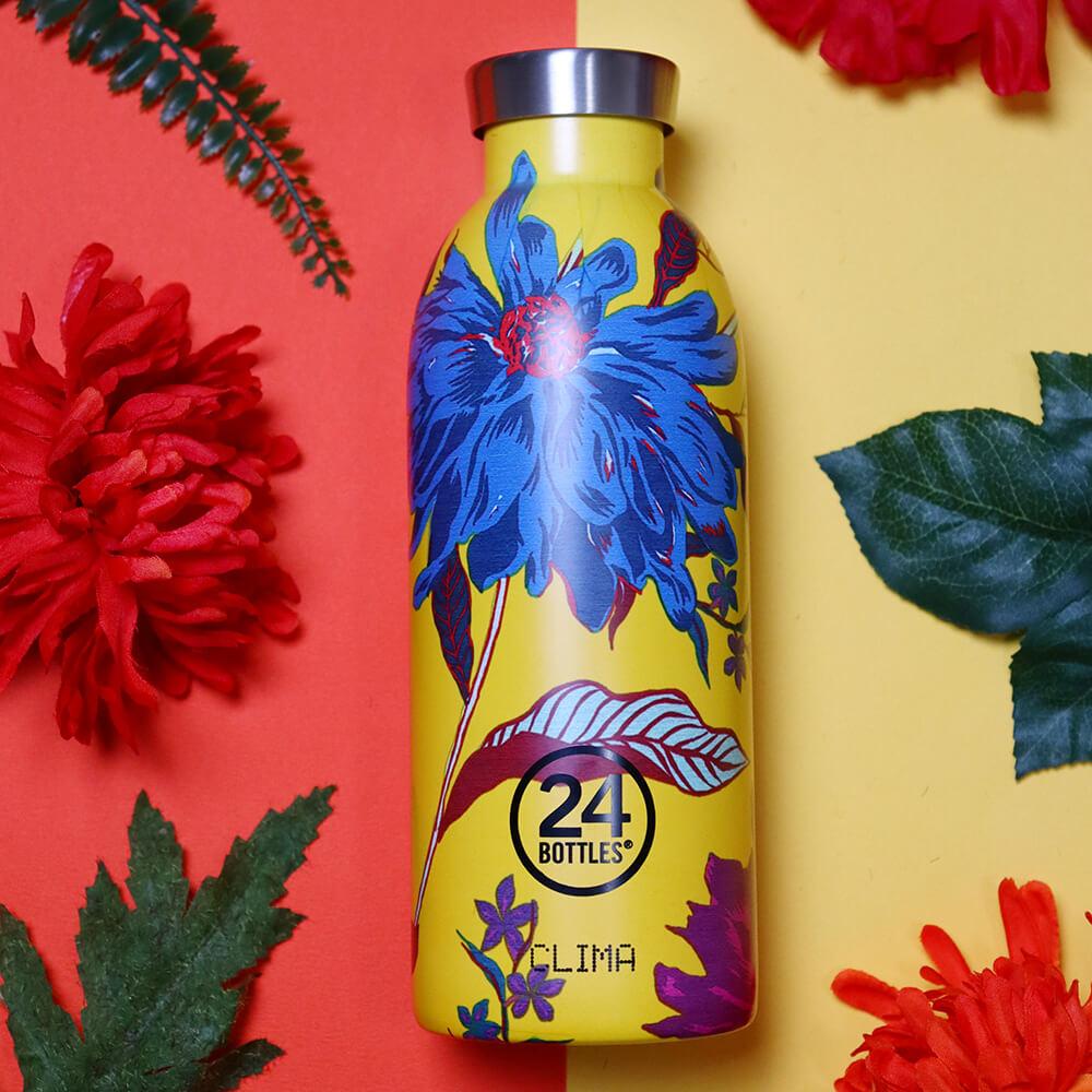 義大利 24Bottles|不鏽鋼雙層保溫瓶 500ml - 點翠菊