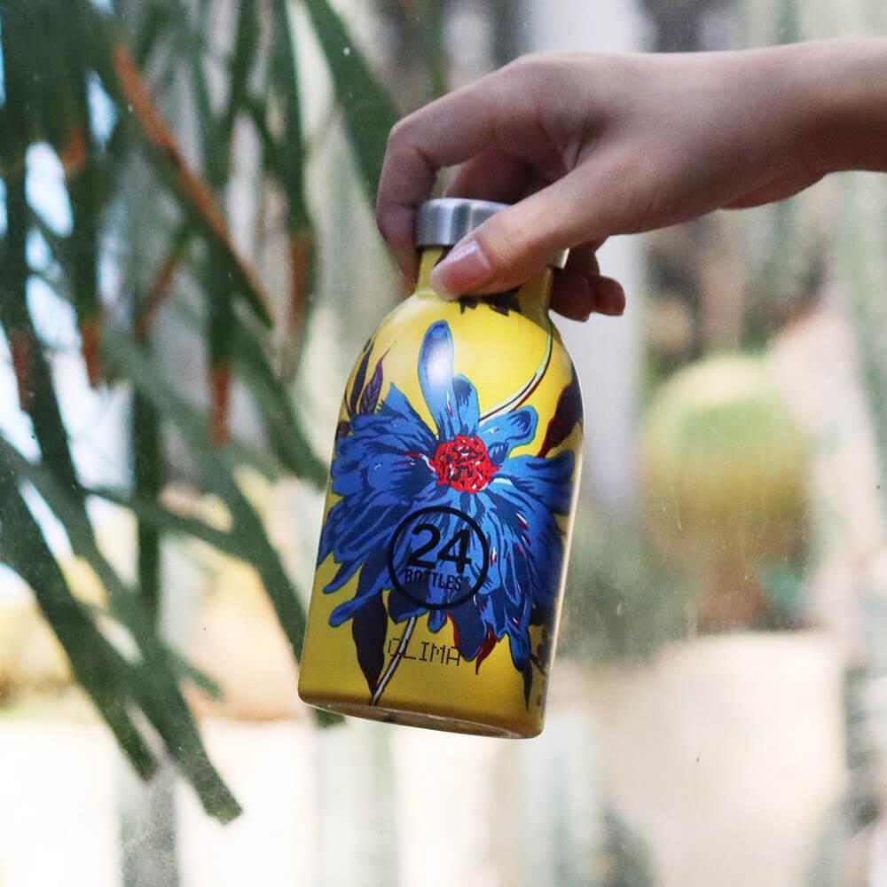 義大利 24Bottles|不鏽鋼雙層保溫瓶 330ml - 點翠菊