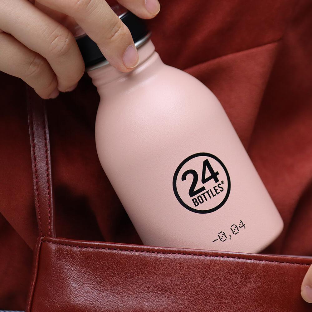 義大利 24Bottles 輕量冷水瓶 250ml - 乾燥玫瑰