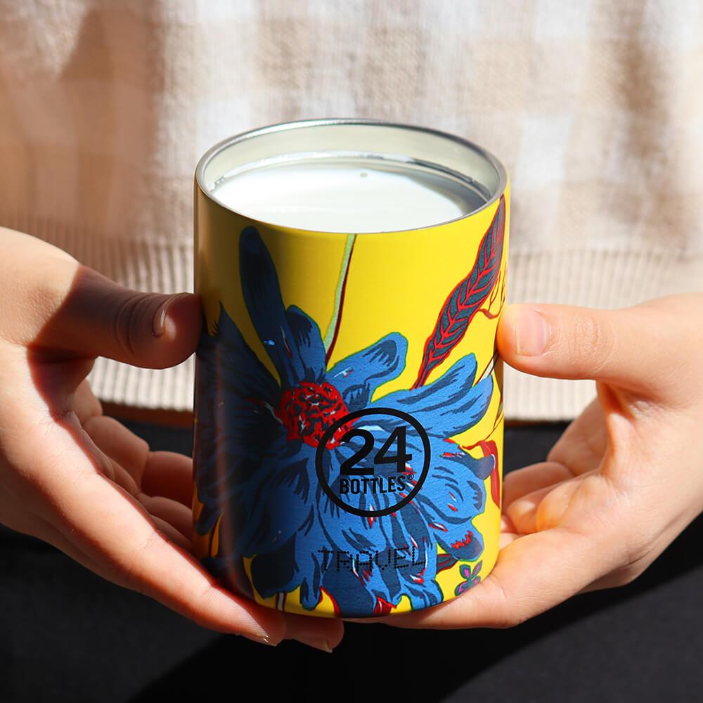 義大利24Bottles|保溫隨行杯 350ml - 點翠菊