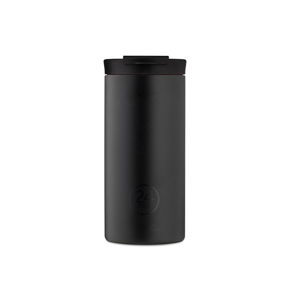 義大利 24Bottles 保溫隨行杯 600ml - 紳士黑 (磨砂面)