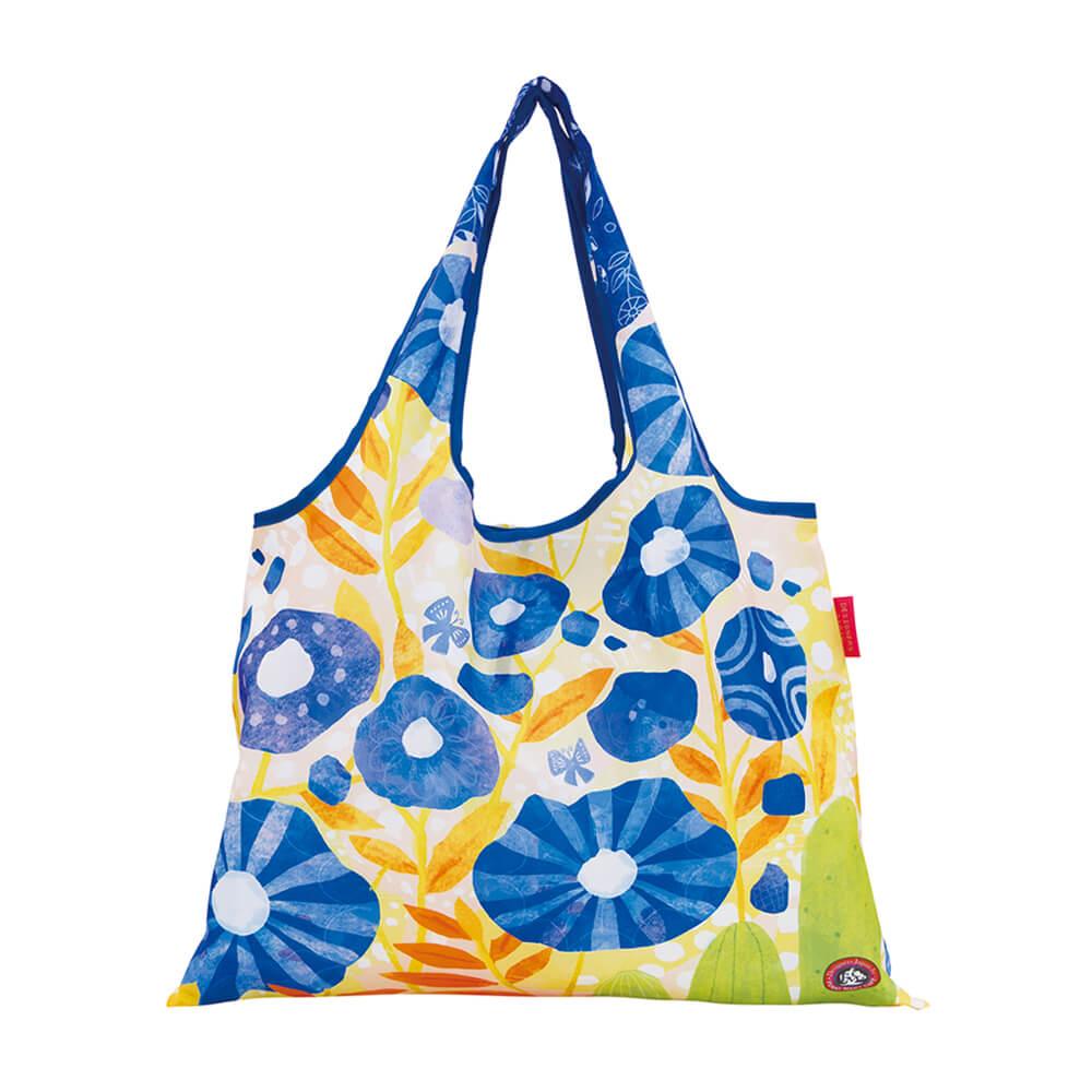 日本 Prairie Dog 設計包 - 藍色花朵