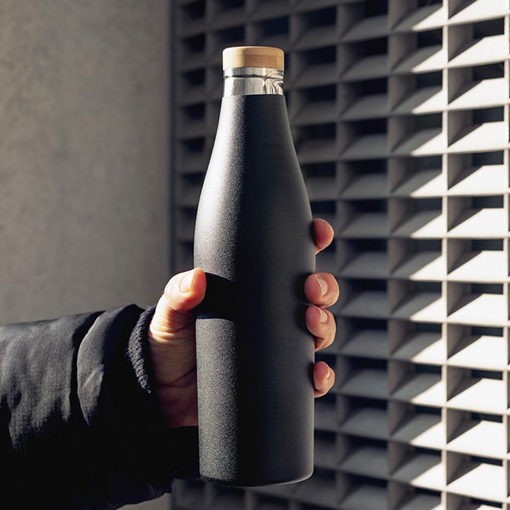瑞士百年 SIGG 纖體竹蓋保溫瓶 500ml - 爵黑