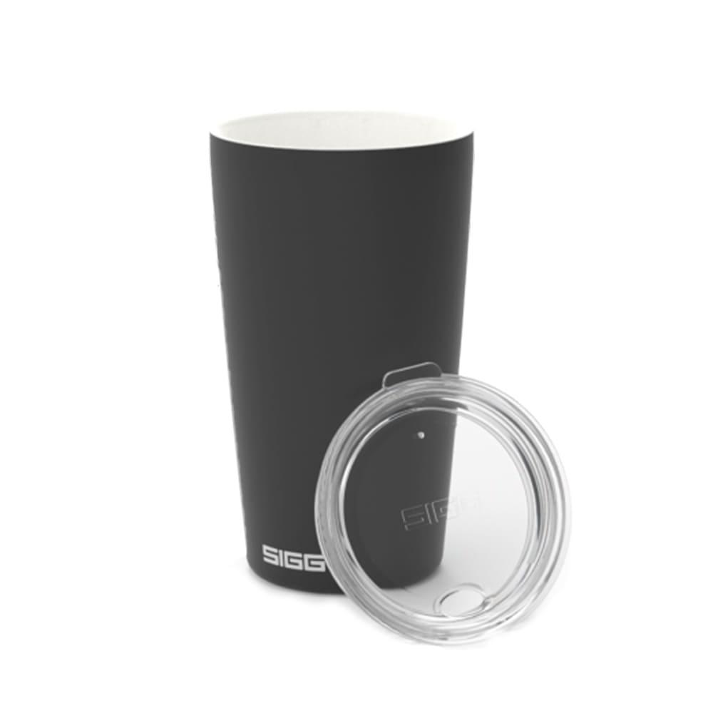 瑞士百年 SIGG|Neso 陶瓷隔熱隨行杯 400ml - 爵黑