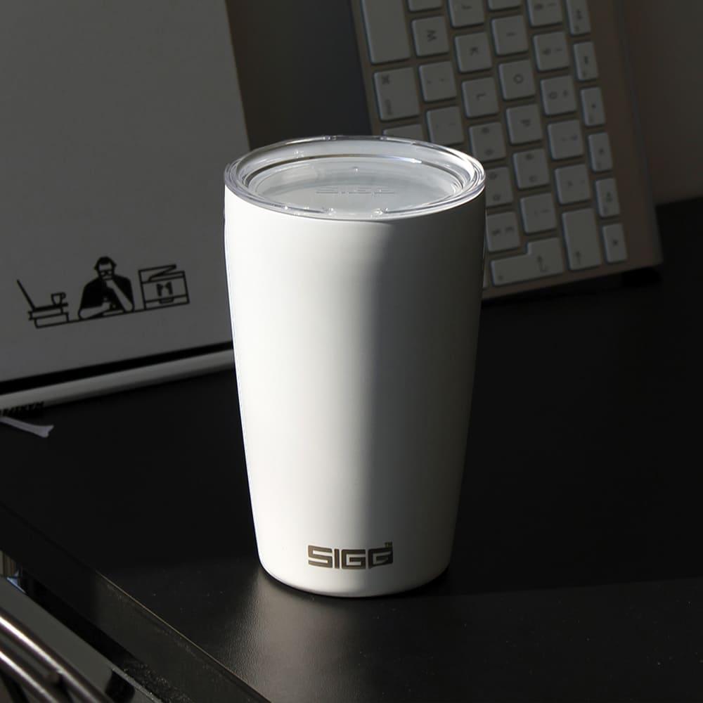 瑞士百年 SIGG Neso 陶瓷隔熱隨行杯 400ml - 純雪