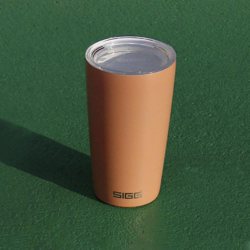 瑞士百年 SIGG Neso 陶瓷隔熱隨行杯 400ml - 珊瑚粉
