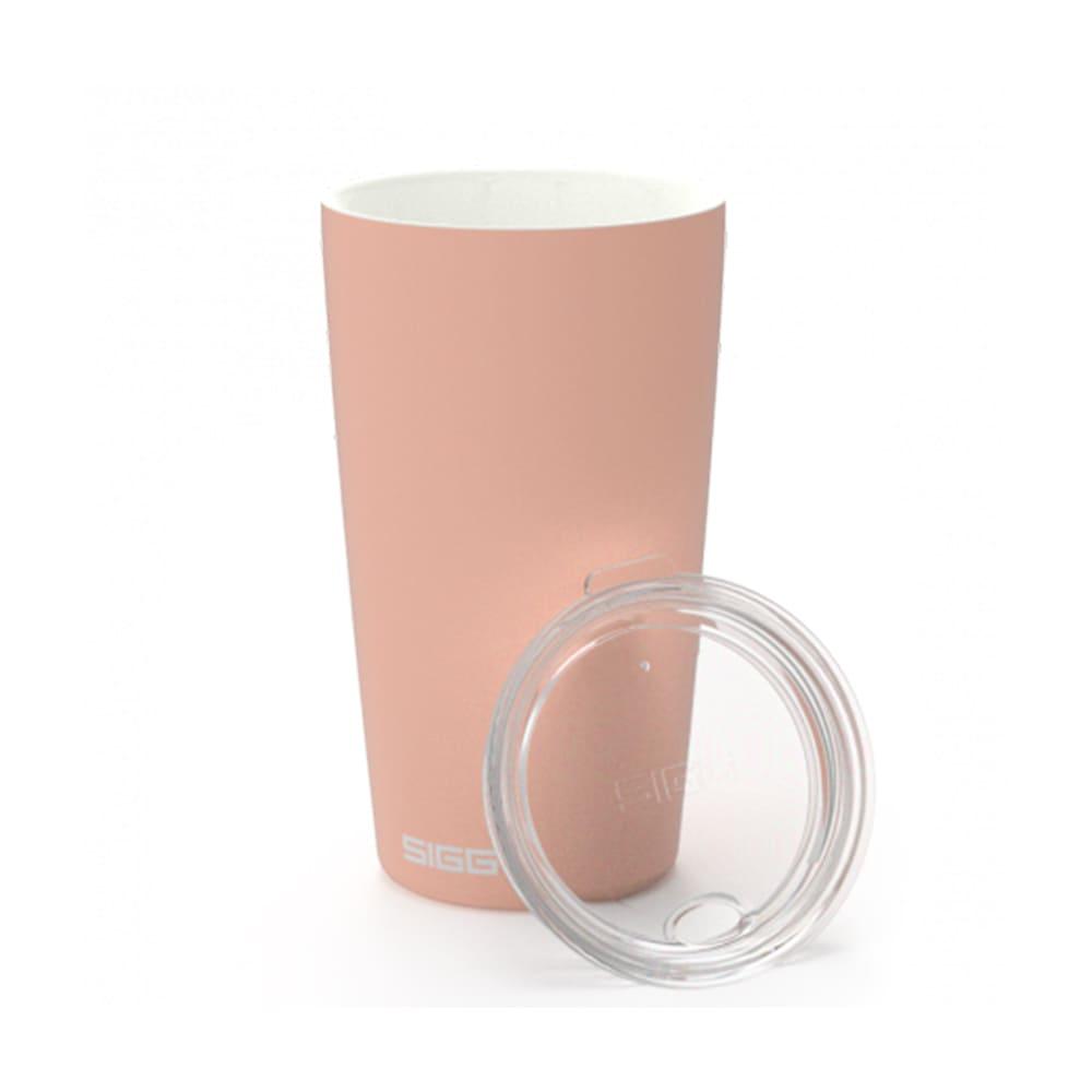 瑞士百年 SIGG|Neso 陶瓷隔熱隨行杯 400ml - 珊瑚粉