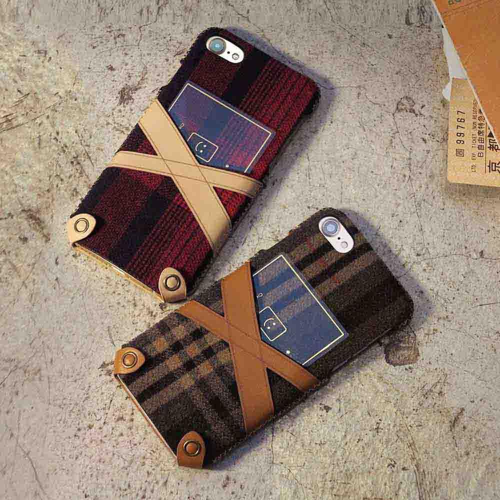 n.max.n|iPhone 7 / 4.7吋 新極簡希臘系列皮革保護套 - 櫻桃紅格紋