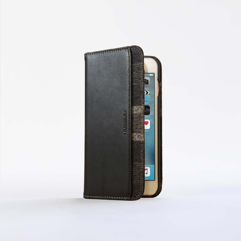 n.max.n|iPhone 7 / 4.7吋 神秘系列層疊款皮革保護套 - 雅緻黑