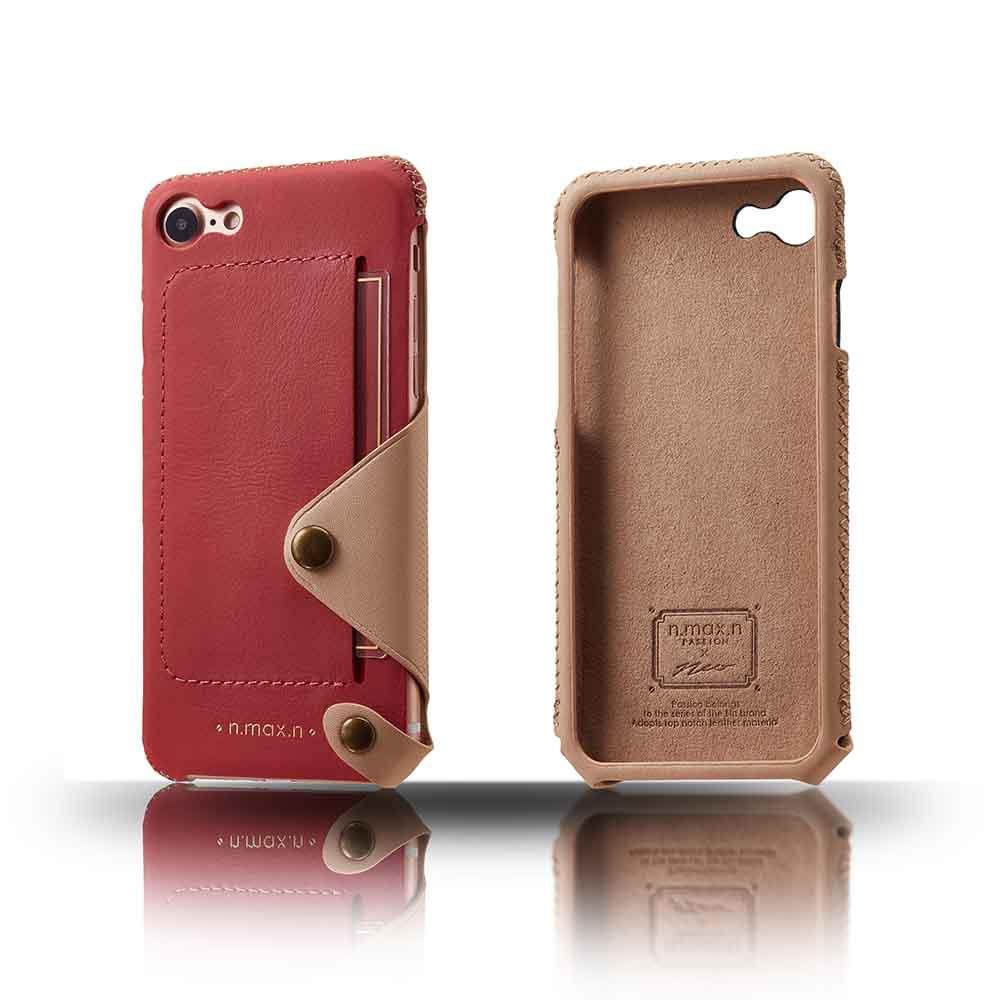 n.max.n iPhone 7 / 4.7吋 極簡系列皮革保護套 - 粉桃紅