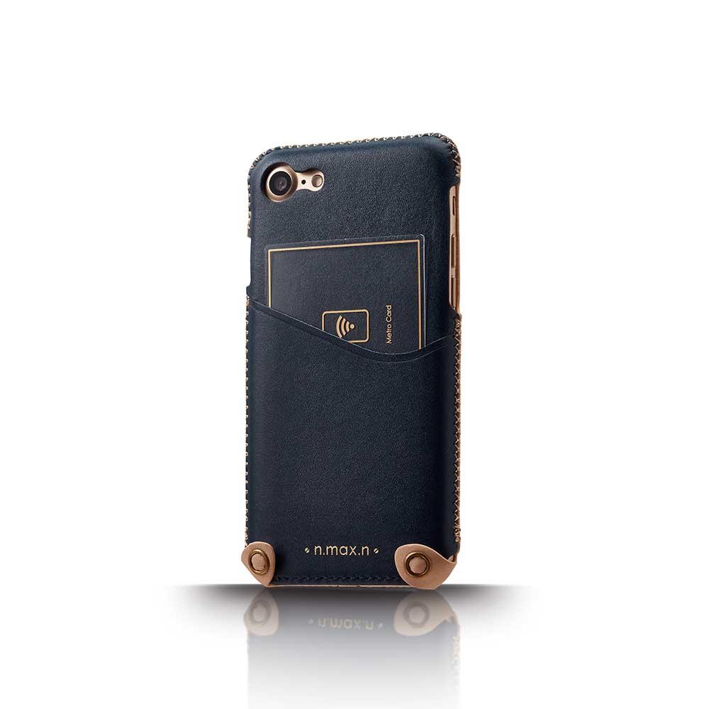 n.max.n|iPhone 7 / 4.7吋 新極簡系列皮革保護套 - 海軍藍