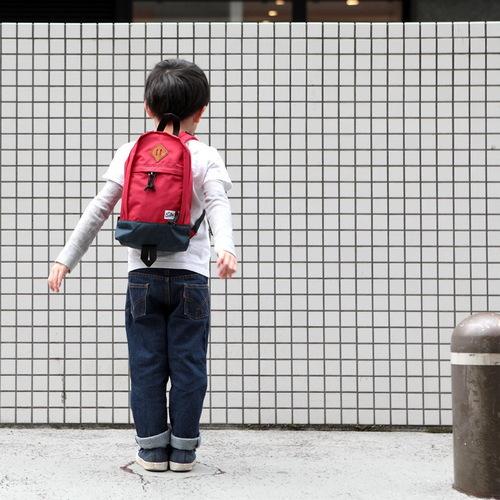 Drifter 防水抗撕裂兒童後背包 (熱情紅+海軍藍)